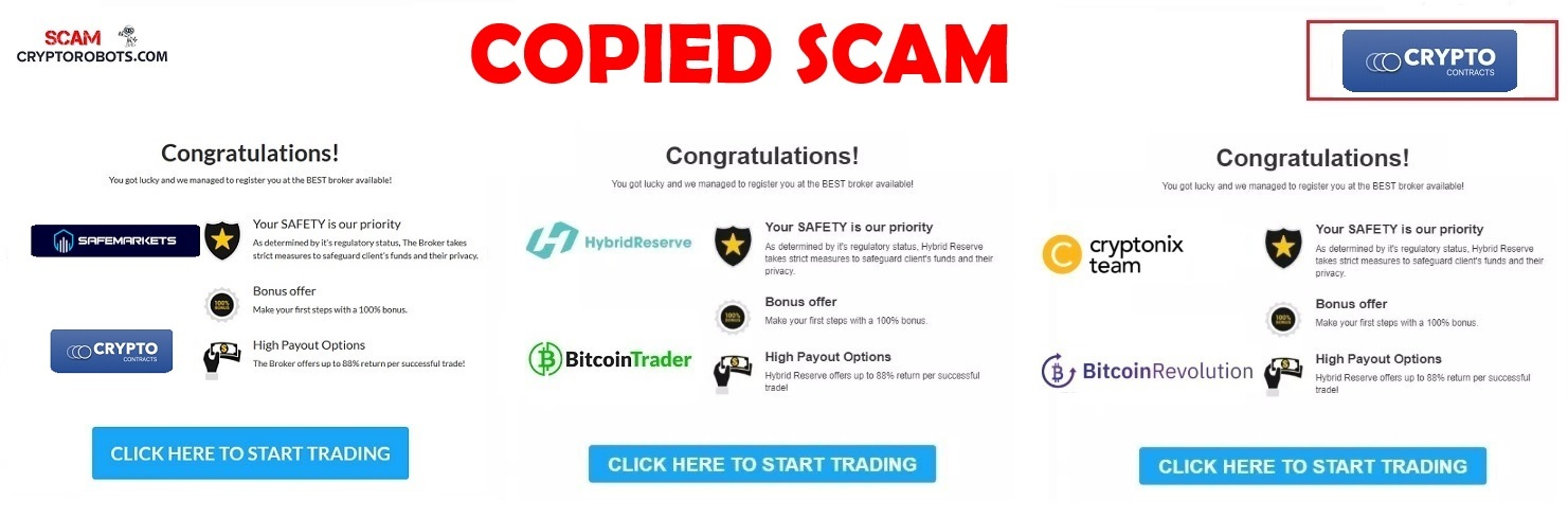 Crypto Contracts Review, Confirmed SCAM | Scam Crypto Robots