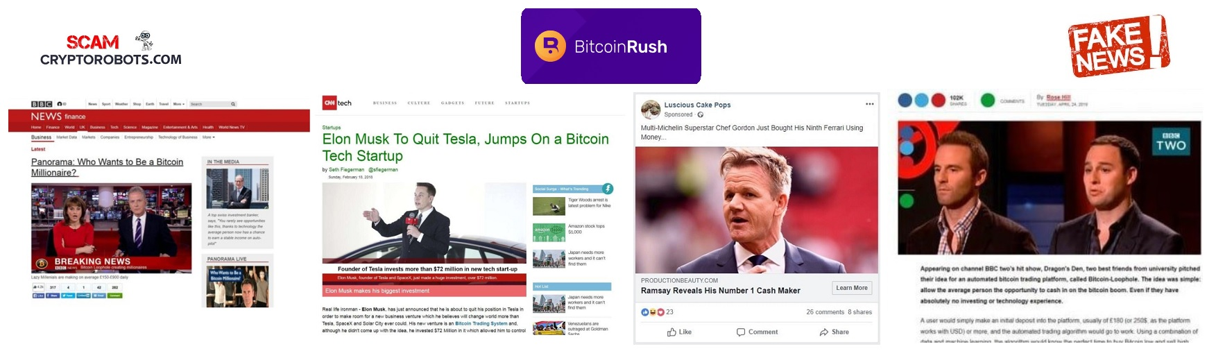 Bitcoin Rush Fake